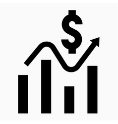 Earnings icon vector