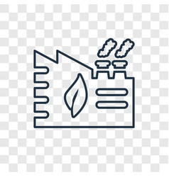 eco factory concept linear icon isolated on vector image