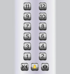 Elevator floor buttons control panel vector