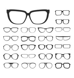 eyeglasses set and eyewear different style and vector image