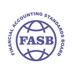 fasb stamp - financial accounting standards board vector image