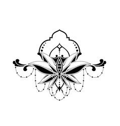 Floral ethnic elegant pattern isolated in white vector