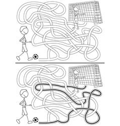 Football maze vector