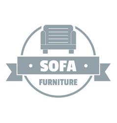 Furniture sofa logo simple gray style vector