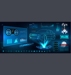 futuristic user interface hud ui vector image
