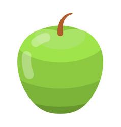 green apple icon isometric style vector image