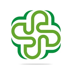 Green arch element design icon vector