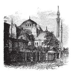 Hagia Sophia vintage engraving vector