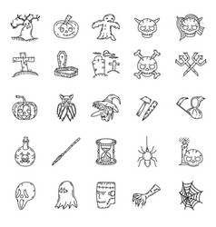halloween icon with hand drawn style vector image