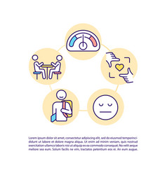 High functioning autism concept line icons vector