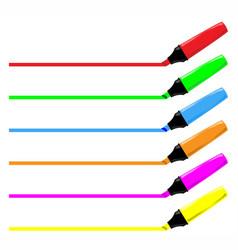 Highliter pen collection vector
