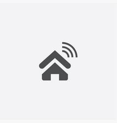 Home wifi icon vector