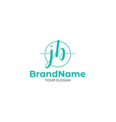 Initial j and b stylish logo design vector