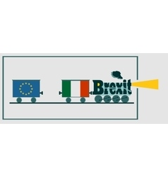 Italy and EU relationships Brexit text vector