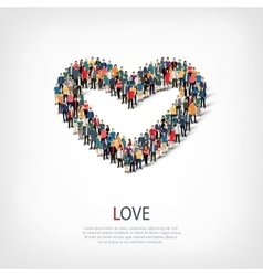 Love people crowd vector