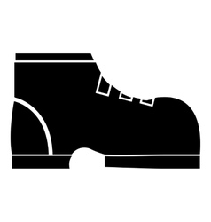Men winter boot icon simple style vector image