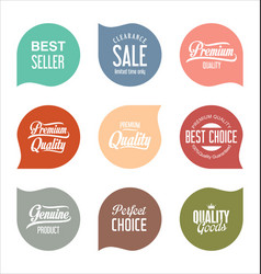 modern sale badges collection 10 vector image