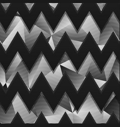 monochrome zigzag pattern with carbon effect vector image