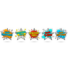 new year and merry christmas banners vector image