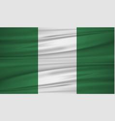 nigeria flag flag of nigeria blowig in the wind vector image