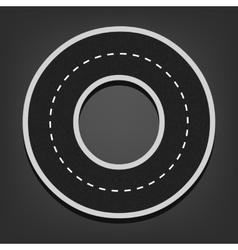 O letter Road font vector image