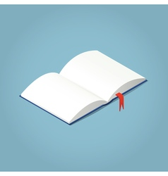 Open Isometric book vector image