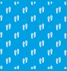 Orthopedic insoles pattern seamless blue vector