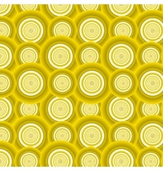 Pattern of yellow circles vector image