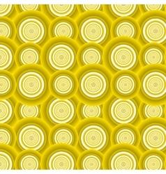 Pattern of yellow circles vector image