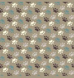 paw seamless patternanimals foot imprint vector image
