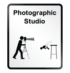 Photographic Studio Information Sign vector image