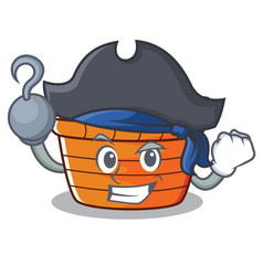 pirate fruit basket character cartoon vector image