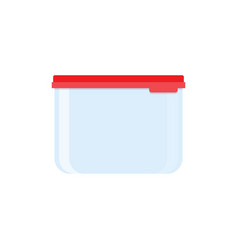 plastic food container red lid vector image