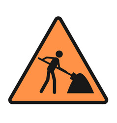 road work sign icon sign repair work icon vector image