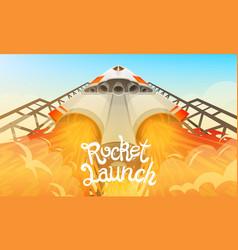Rocket launch international spaceship shuttle vector
