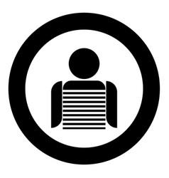 Seaman black icon in circle vector