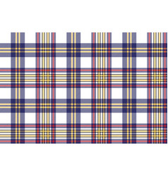 seamless pattern white blue check plaid vector image
