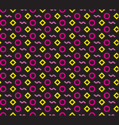 seamless repeating pattern of circles rhombuses vector image