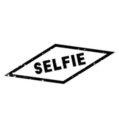 Selfie rubber stamp vector