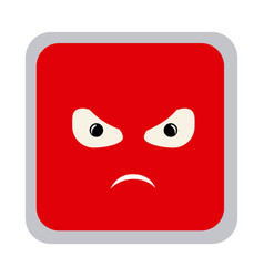 square colorful shape emoticon angry expression vector image