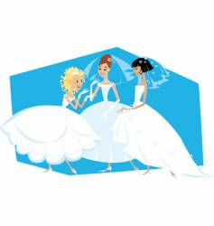 three brides vector image