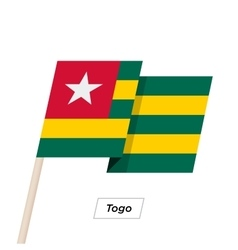Togo Ribbon Waving Flag Isolated on White vector