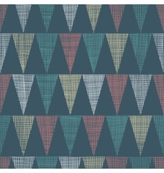 Vintage Dark Grey Bunting Flags Triangles vector image