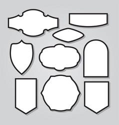 Vintage shield armor frame icon logo mascot set 2 vector