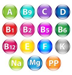 Vitamins vector image