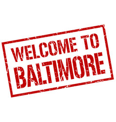 Welcome to baltimore stamp vector