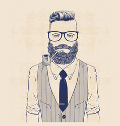 business hipster vector image vector image
