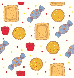 candies and cookies vector image