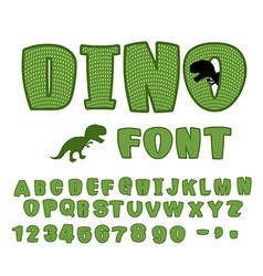 Dino font dinosaur ABC Texture animal of Jurassic vector image vector image