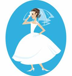 disappointed bride vector image vector image